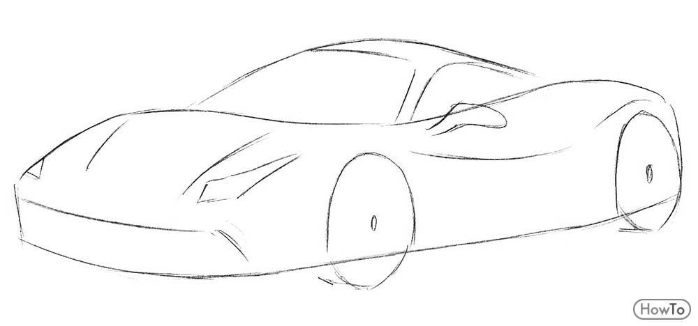 How to Draw a Ferrari in 7 Easy and Quick Steps as a Pro , Howto