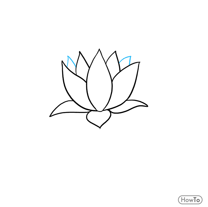 How To Draw A Lotus Flower Make A Nice Flower In 5 Steps Howto